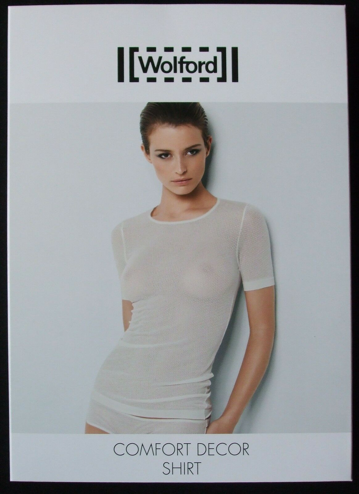 WOLFORD COMFORT DECOR SHIRT, TOP, SMALL, in Weißwash 1146, New in box