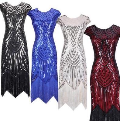 Ehrlichkeit Damen 1920 20er 30er Jahre Charleston Kostüm Kleid Flapper Fransen Party Kleid Moderater Preis