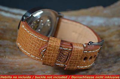 MA WATCH STRAP 24/22 MM REAL PIG LEATHER BAND F. PANERAI,ETC PIG - WALNUT