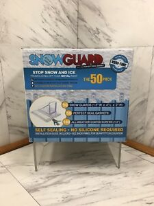 Snow-Guard-50-Mini-Brand-NEW-50-Perfect-Seal-Gaskets-50-Ice-Guards-150-Screws