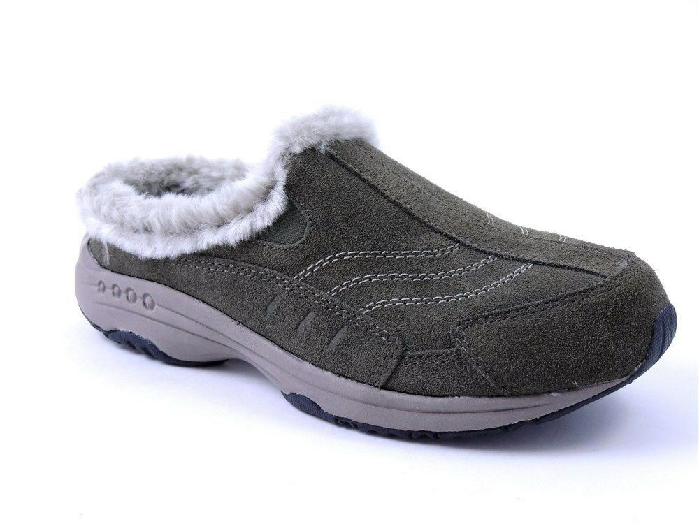 Easy Spirit Women's Time Travels Sneaker Clogs Dark Green Suede Size 5.5 M