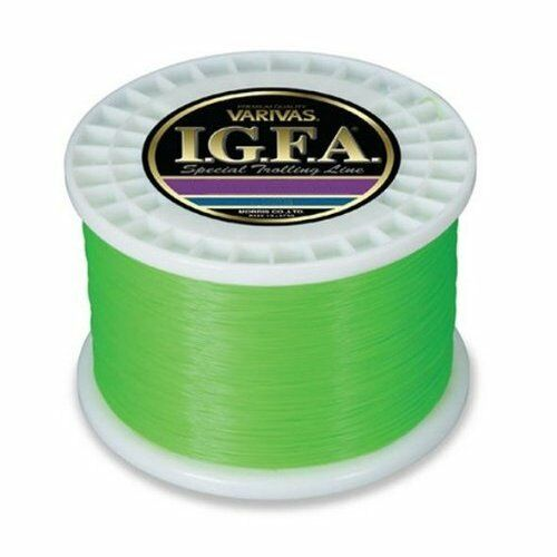 MORRIS Nylon LINE VARIVAS I.G.F.A. Special trolling 3000m 80lb Flash green