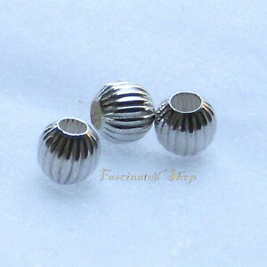 925 Sterling Silver 5.7x3.5mm Corrugated Saucer Spacer Beads 10pcs  #5110-8