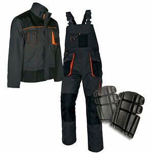 Bib-amp-Brace-Overalls-Heavy-Duty-WORK-TROUSERS-Dungarees-KNEE-PADS-and-JACKET-opt