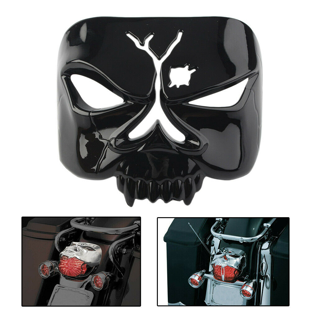 Tail Lamp Taillight Cover Zombie Skull for Harley Street Electra Glide Road King