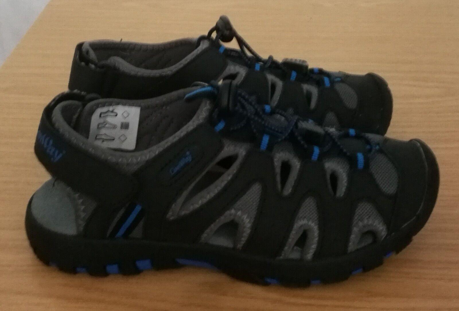 Herren-Sandale, sportlich, geschlossen, schwarz/blau, Größen 36 - 46, NEU