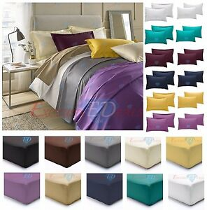 200 Tc Thread Count 100% Egyptian Cotton Extra Deep Fit/ Fitted/ Flat Bed Sheets Bedding