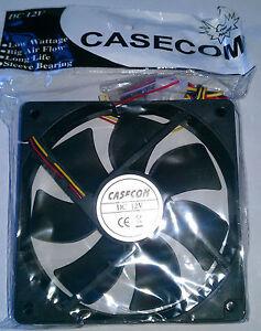 Casecom-120mm-12cm-New-Silent-Computer-Case-Cooling-Fan-12V-DC-Molex-amp-3pin