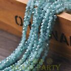 New 100pcs 4X3mm Crystal Glass Rondelle Faceted Loose Beads Jade Lake Blue&Green