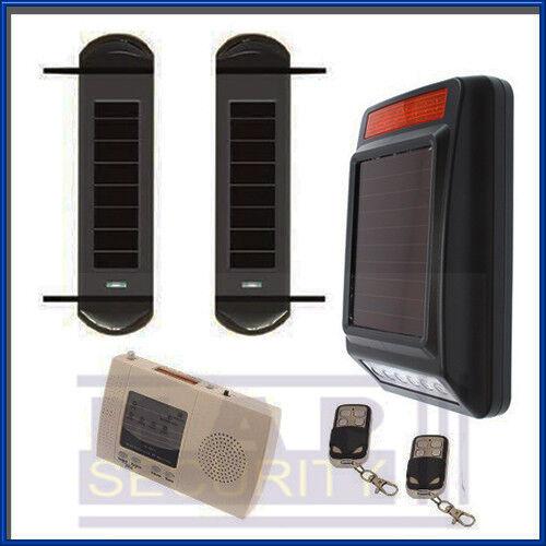 Energía Solar perímetro Beam Alarma Para kennals almacén Taller yardas Ecuestre