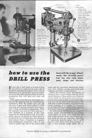Atlas How To Use The Drill Press Instructions