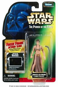"Slave Leia #623  Star Wars  3.75"" Action Figure on Freeze Frame Green Card"