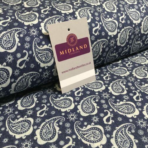 Paisley Printed Chambray Dress Fabric 150cm MK1230 Mtex