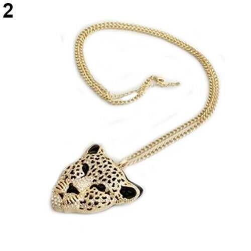 GX JT/_ Grail Fashion Retro Vintage Hollow Leopard Head Pendant Necklace Nice Gi
