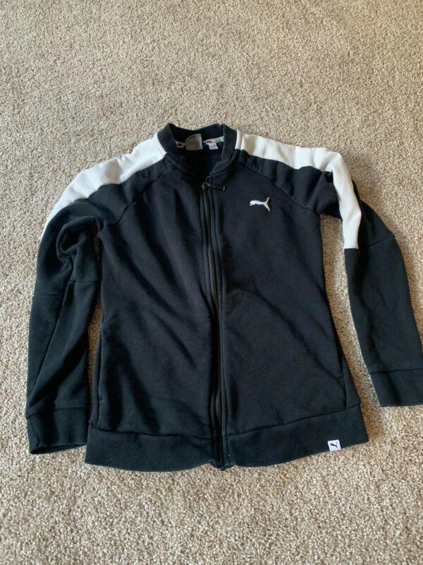 Efficient Puma Women's Size S Fleece Black Full Zip Track Jacket Diversified Latest Designs