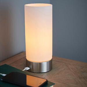 de LatónNíquel original título Toque Elegante Luz USB Mesa Mesa Dormitorio De Detalles ver Lámpara Cargador Cepillado 1FKc3TJl
