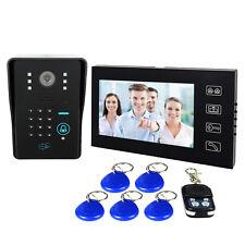 """7"""" LCD RFID Card Video Doorbell Phone Intercom keypad Door Entry Control System"""