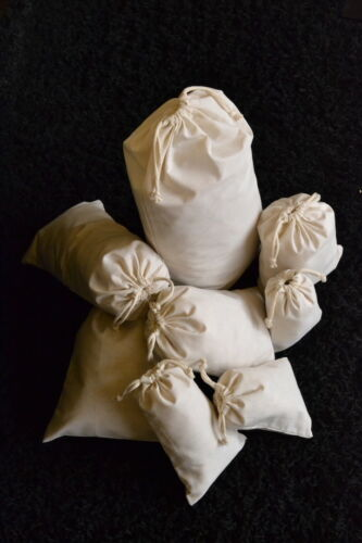 1000 4 x 6 Inches 100/% Organic Cotton Muslin Bags with Double Drawstrings Qty