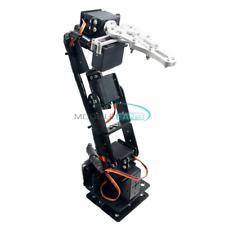 Aluminium Robot 6 Dof Arm Claw Mount Kit Mechanical Robotic Arm For Arduino