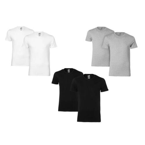 B1089 Er Puma Neck 10 12 Round XL 6 4 8 Shirt Rundhals S Noir 2 Pack TAZrqTPf