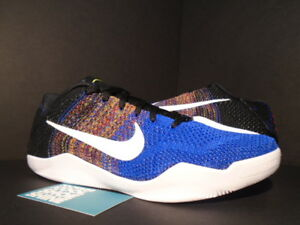 new concept 463b5 e5467 Details about Nike Zoom KOBE XI 11 ELITE LOW BHM BLACK HISTORY MONTH BLUE  MULTICOLOR WHITE NEW