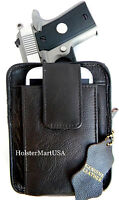Dark Brown Leather Ccw Concealment Gun Pistol Holster Pack For Raven Arms 22 25