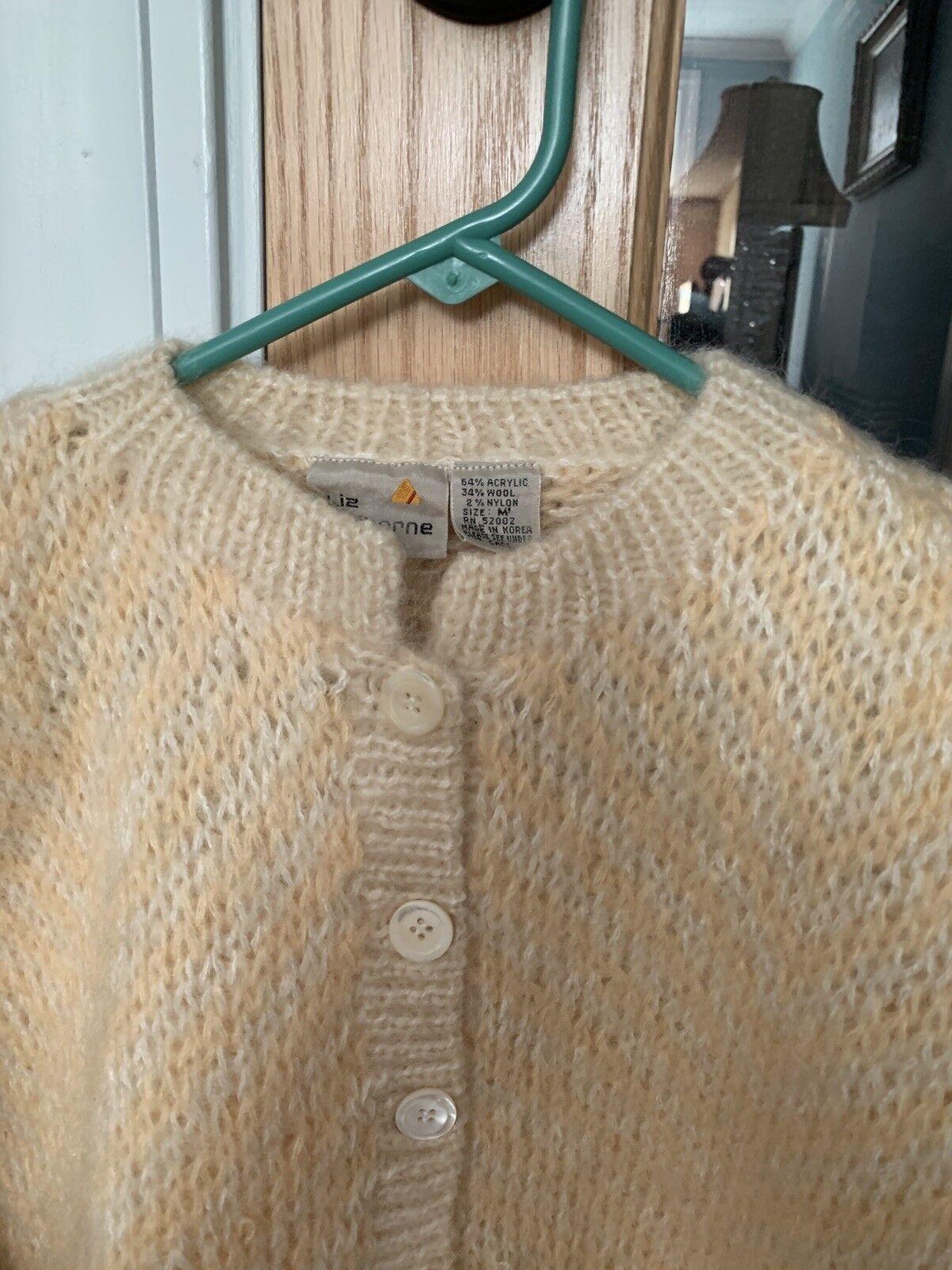 Origional Desiger Desiger Desiger Liz Claiborne Pastel Peach Sweater ( M) 642eb1