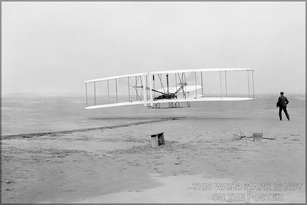 Poster, Many Größes; Wright Brothers First Successful Flight Of The Wright Flyer