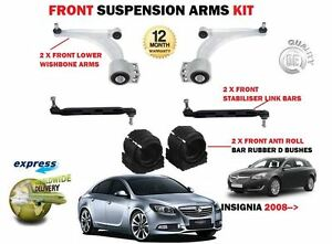 Pour-Opel-Vauxhall-Insignia-2X-Front-Wishbone-Bras-stabilisateur-Liens-Buissons
