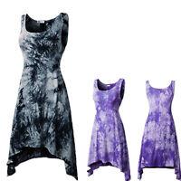 Women Sleeveless Mini Dress Casual Long Vest T Shirt Tops Summer Beach Sundress