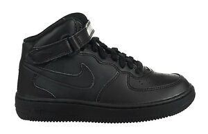 d4a8f6001 Nike Air Force 1 Mid (PS) Preschool Kids Shoes Leather Uptowns Black ...