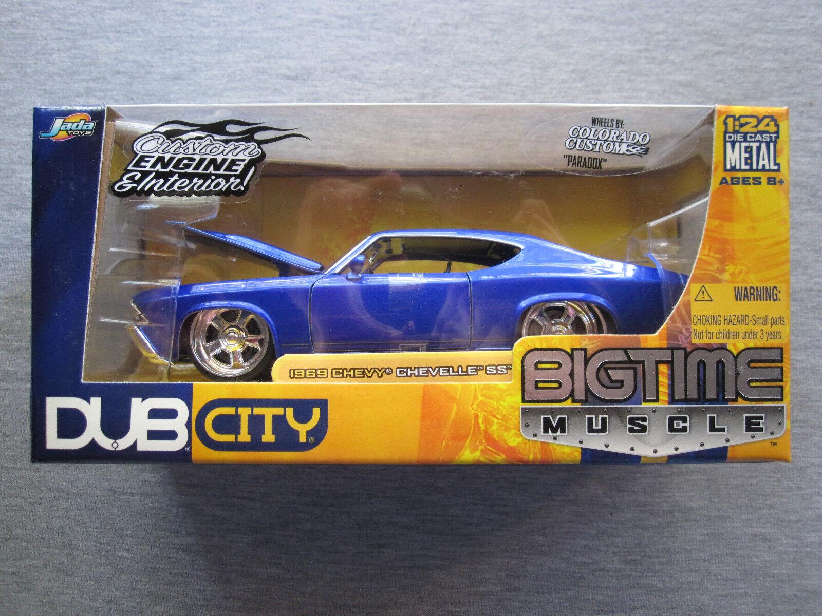 miglior prezzo Jada giocattoli DUB città gree gree gree Time Muscle 1 24 scale 1969 Chevy Chevelle SS - nuovo  sport dello shopping online