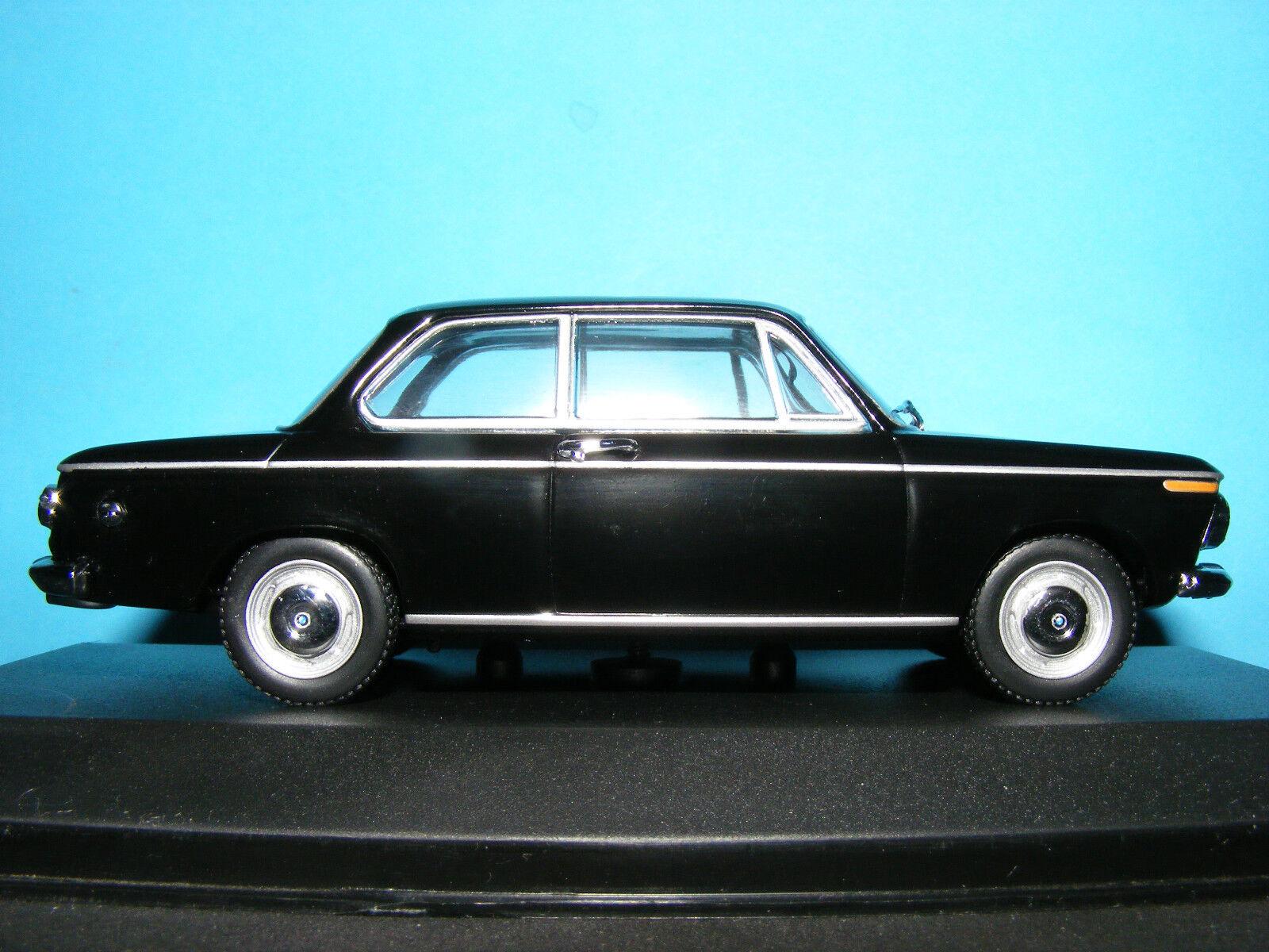 BMW 1600 in (environ 4064.00 cm) Noir Avec Noir Tex de 1966 1 43RD. Minichamp. Ver Rare
