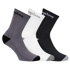 Champion-Unisex-Socks-3-Paar-Performance-Crew-Socks-Black-White-Grey-39-46