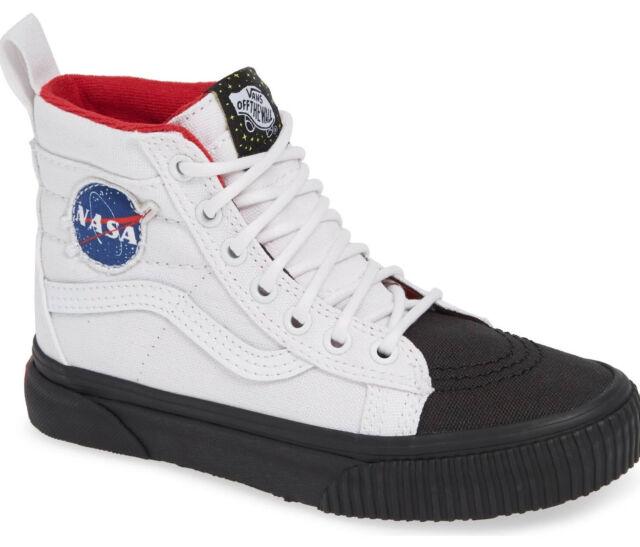VANS Sk8 Hi MTE NASA Space Voyager Collection White Kids 11