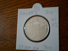 Pièce 10 euros région MAYOTTE 2011 / SERIE 2010  sous ETUI argent 90%. 50 000 EX