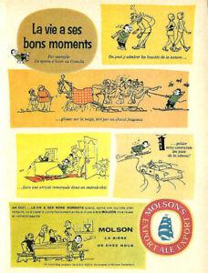 1960-PUBLICITE-ORIGINALE-DE-LA-BIERE-MOLSON-EXPORT-LA-VIE-A-SES-BONS-MOMENTS