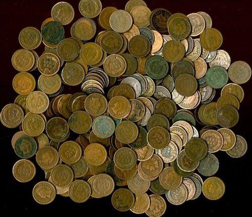 INDIAN HEAD CENT PENNY LOT culls 5 ROLLS! 250