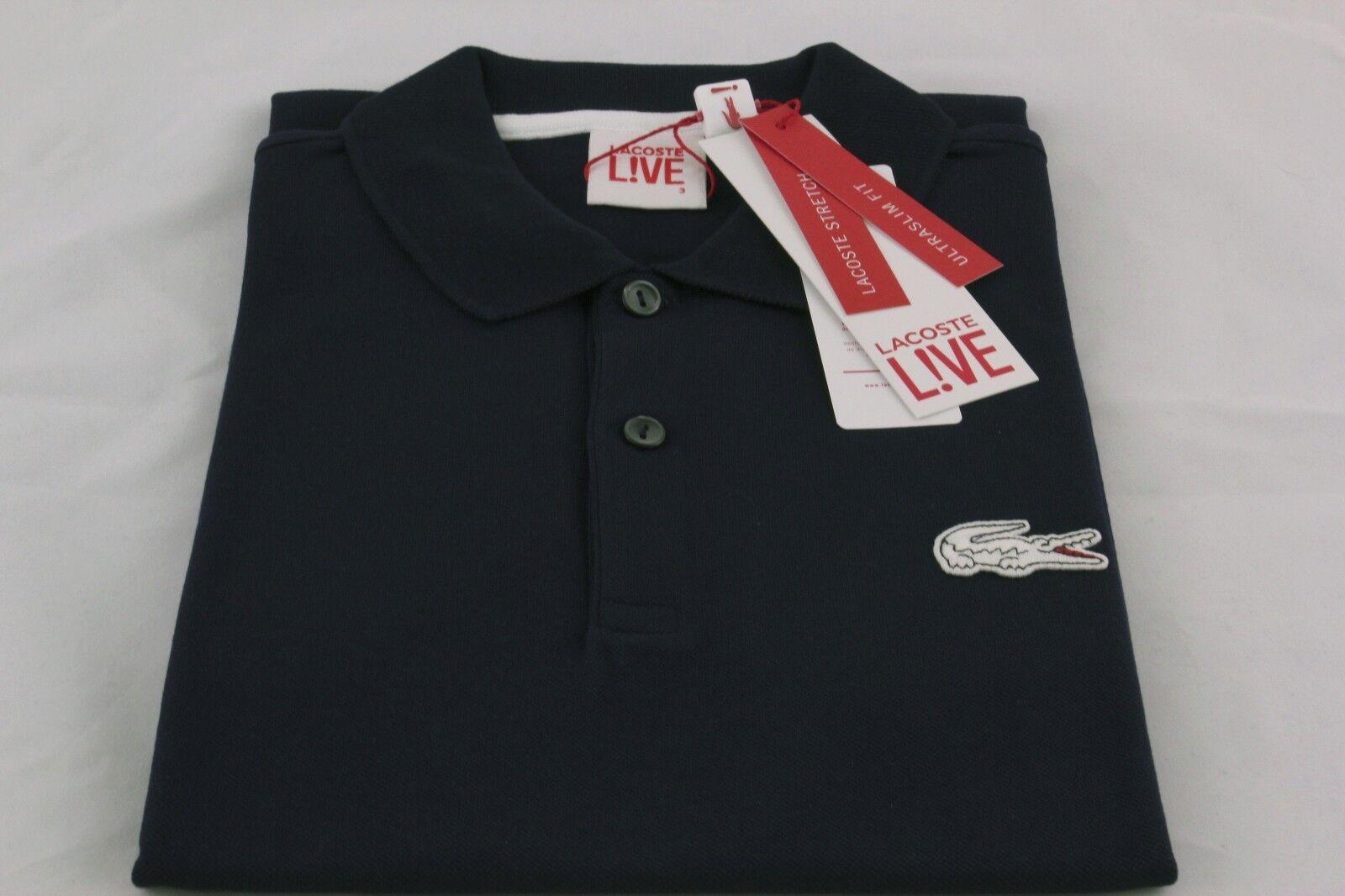 Lacoste Live Men's Polo Shirt Large Croc Slim-Fit Sizes  M(4)