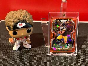 2020 Panini Prizm Chase Claypool Rookie Red Ice Prizm #392 Pittsburgh Steelers!