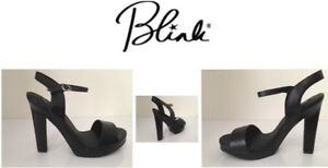 Ladies-Shoes-Black-Open-Heeled-Shoes-Size8-By-Blink-Brand-New-Free-Delivery