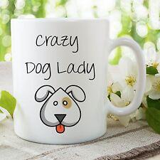 Crazy Perro Señora Taza Muy Monos Amantes De Los Perros Mejor Amigo Cumpleaños