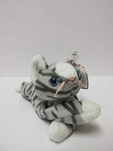 79a19e97eea Image is loading Ty-Beanie-Baby-Prance-Silver-Tabby-Feline-Kitty-
