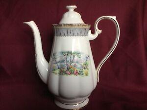 Royal-Albert-Silver-Birch-Bone-China-9-inch-coffee-pot-Stunning