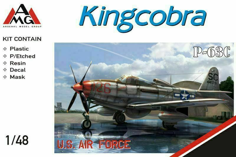 AMG 1 48 Bell P-63C Kingcobra USA limited edition plastic kit