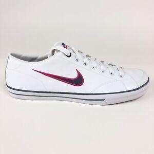 Nike-Capri-Womens-Low-Leather-White-Dusk-Blue-Shoes-Size-10-5-Retro-314956-142