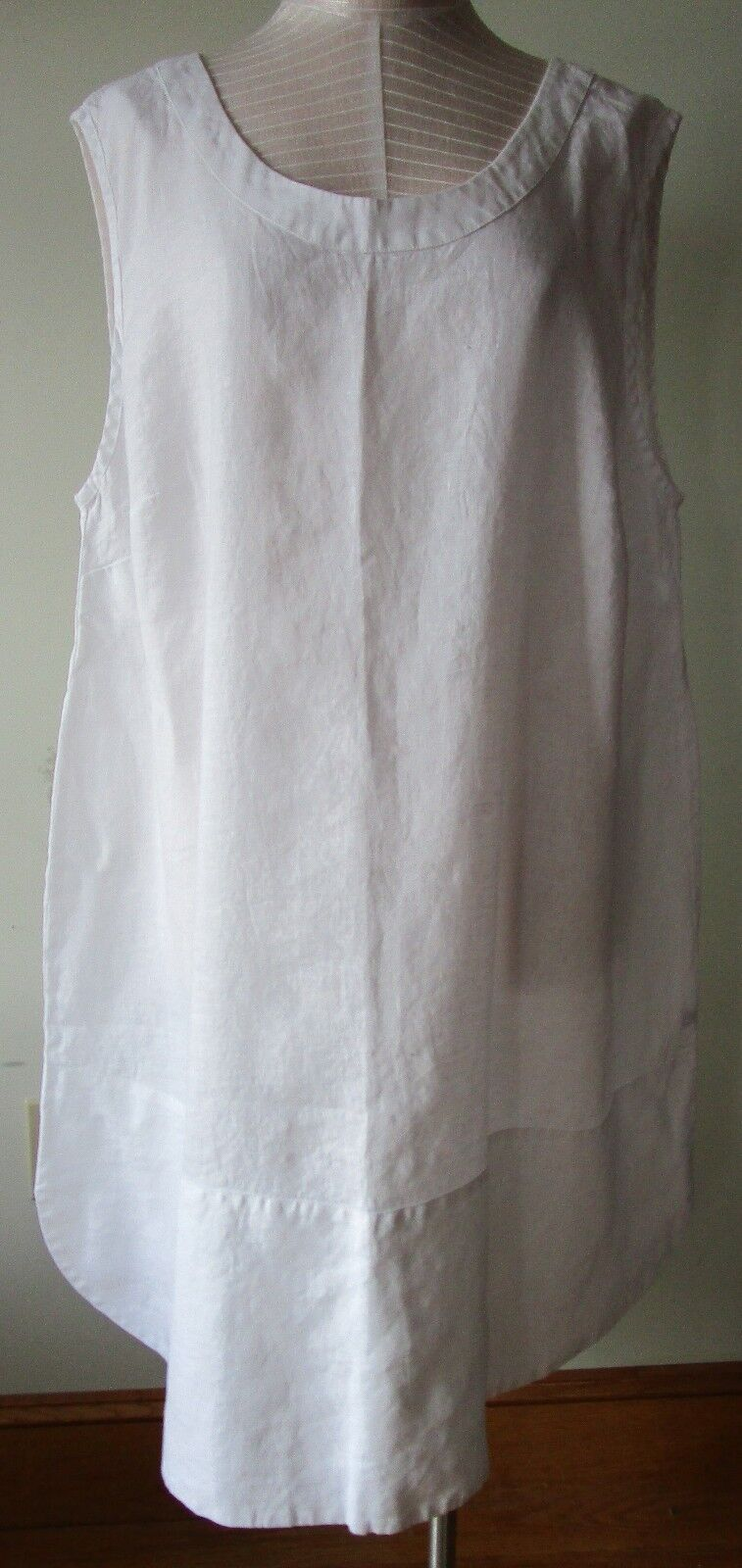 FLAX Designs  LINEN  Rosy DRESS    2G     NWOT    2017 Bold  WHITE