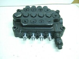 New Husco 4 Spool Hydraulic Valve, With adjustable relief valve, A08A5323