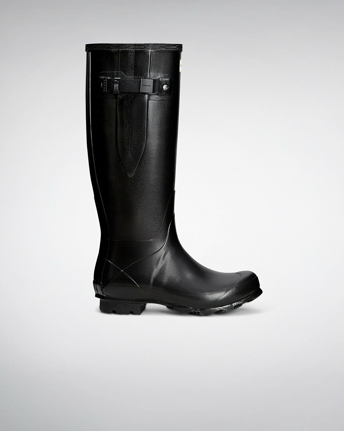 Hunter Wellington Boots Wellies Womens Norris Adjustable Black Size 8 Eu 42