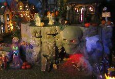 """Halloween LIGHTED SKULL CAVE Village Display platform base 28x12"""" Dept 56 Lemax"""